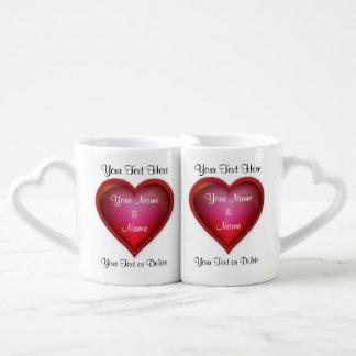 Valentines-Tassen für sie und ihn PERSONALISIERT Liebestassen