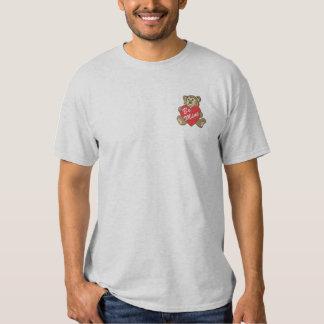 Valentinsgruß-Bär Besticktes T-Shirt