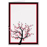 Valentinsgruß-Baum-Karte Grußkarte