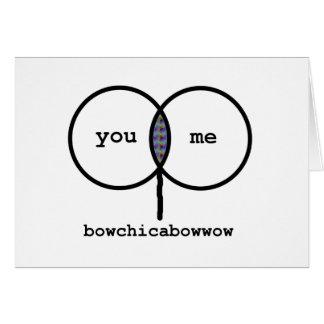 Valentinsgruß: Bowchicabowwow lustige Karte