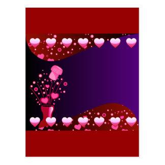 Valentinsgruß-Champagne-Hintergrund 2 Postkarte