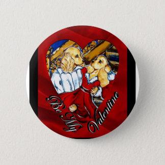 Valentinsgruß Cocker spaniel Runder Button 5,1 Cm