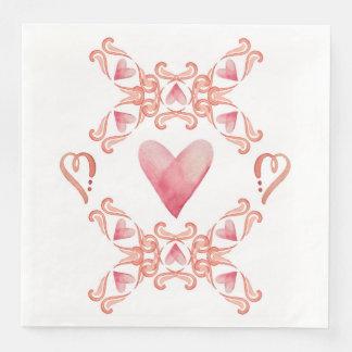 Valentinsgruß-Essgeschirr-Servietten Papierserviette