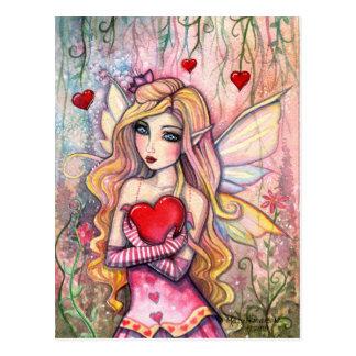 Valentinsgruß-feenhafte Postkarte durch Molly Harr