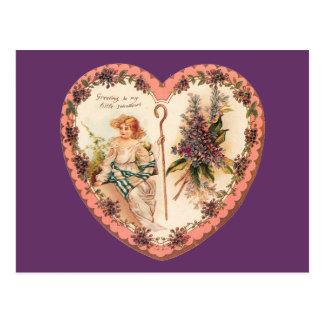Valentinsgruß-Fliedern Postkarte