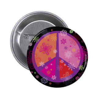 Valentinsgruß-Friedens-KNOPF Buttons