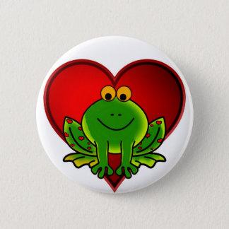 Valentinsgruß-Frosch Runder Button 5,1 Cm