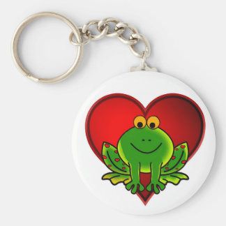 Valentinsgruß-Frosch Schlüsselanhänger