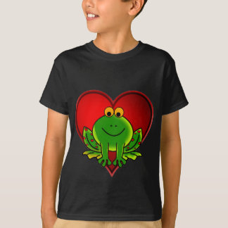 Valentinsgruß-Frosch T-Shirt