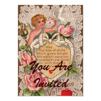 Valentinsgruß-Gedicht mit Amor 12,7 X 17,8 Cm Einladungskarte