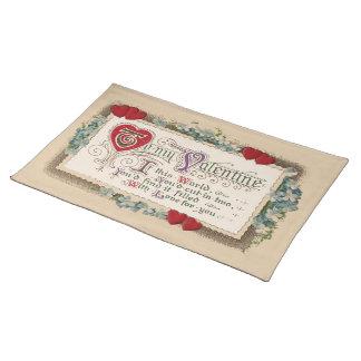 Valentinsgruß-Gedicht Tischset