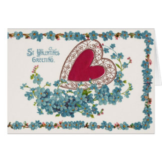Valentinsgruß-Gruß mit Herzen Karte
