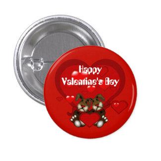 Valentinsgruß-Häschen-Herz-Gewohnheits-Knopf Anstecknadelbuttons