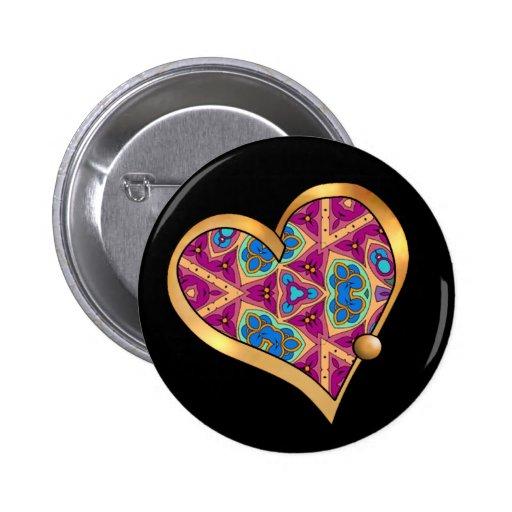 Valentinsgruß-Herz-Gedächtnis-Knopf Anstecknadelbutton