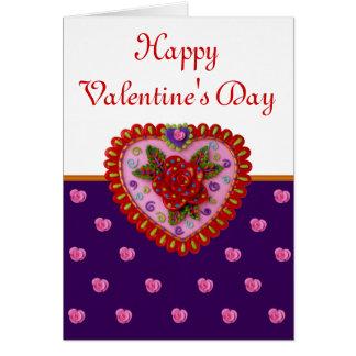 Valentinsgruß-Herz Karte