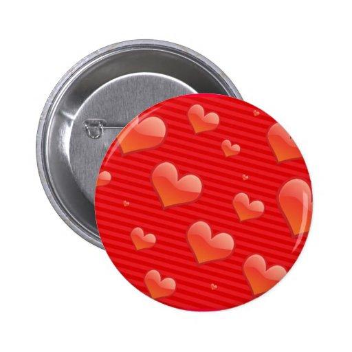 Valentinsgruß-Herz-Knopf Anstecknadelbuttons