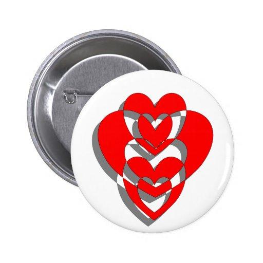 Valentinsgruß-Herz-Knopf Anstecknadelbutton