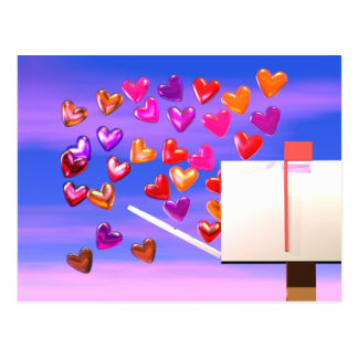 Valentinsgruß-Herz-Post Postkarte