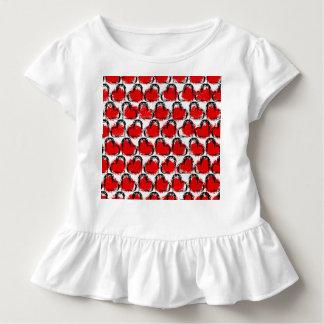 Valentinsgruß-Herz-Reihen Kleinkind T-shirt