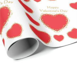 Valentinsgruß-Herzen Geschenkpapier