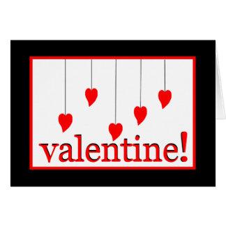 Valentinsgruß-Herzen Karte