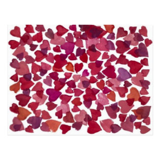 Valentinsgruß-Herzen - Postkarte