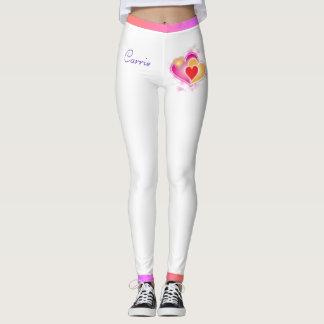 Valentinsgruß-Herzen u. Pastellfarbe-Gamaschen Leggings