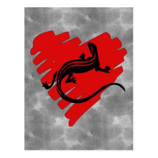 Valentinsgruß-HerzNewt Postkarte