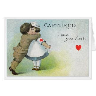 Valentinsgruß I sah Sie zuerst Grußkarte
