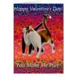 Valentinsgruß-Katzen-Karte