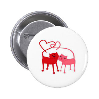 Valentinsgruß-Katzen-runder Knopf Anstecknadelbuttons