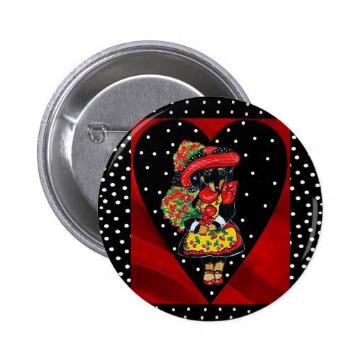 Valentinsgruß-Knopf Anstecknadel