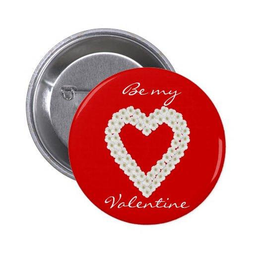 Valentinsgruß-Knopf Button