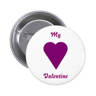 Valentinsgruß-Knopf, Herz und mein Valentinsgruß Buttons