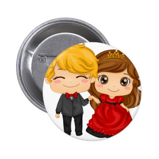 Valentinsgruß Lanny Paar-Knopf Button
