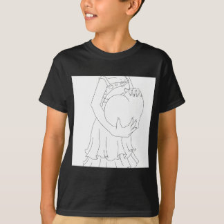 Valentinsgruß-Mädchen T-Shirt