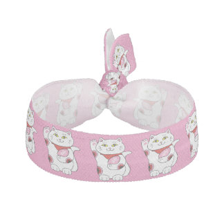 Valentinsgruß Maneki Neko glückliche Katze Haarband