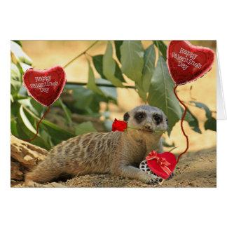 Valentinsgruß Meerkat Karte