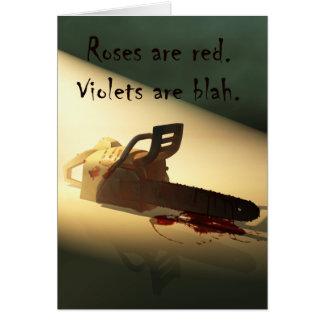 Valentinsgruß mit Zombie-Kettensäge Karte