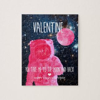 Valentinsgruß, nehmen Sie mich zum Mond und zurück Puzzle