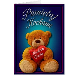 Valentinsgruß Notecard auf Polnisch Karte