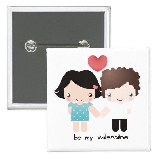 Valentinsgruß-Paar-Knopf Anstecknadelbuttons