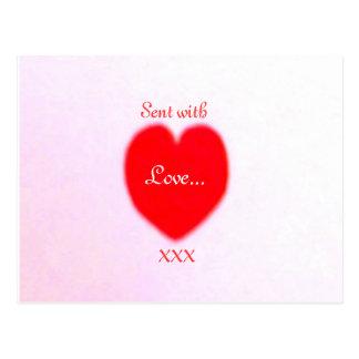 Valentinsgruß-Postkarte