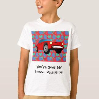 Valentinsgruß-Rennwagen T-Shirt