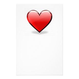 Valentinsgruß-Rot-Herz Briefpapier