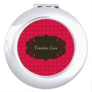 Valentinsgruß-Rote Taschenspiegel