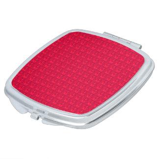 Valentinsgruß-Roter Satin Color*-Multi-Shapes Taschenspiegel