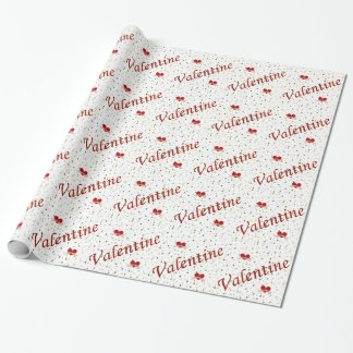 Valentinsgruß-rotes Einpackpapier