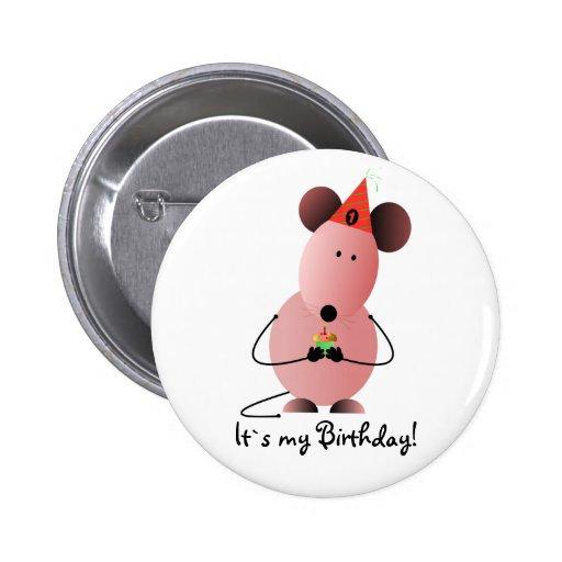 Valentinsgruß ` s erster Geburtstags-Knopf Buttons