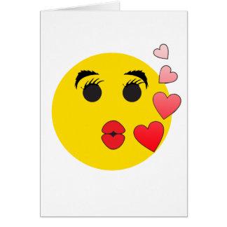 Valentinsgruß-smiley Karte